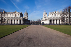 Greenwich University and Canary Wharf Stock Images