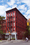 Greenwich village district on summer sunny day Royalty Free Stock Images
