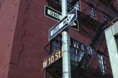 Greenwich Village Street Sign Stock Image
