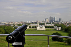 Greenwitch panorama - telescope Royalty Free Stock Images