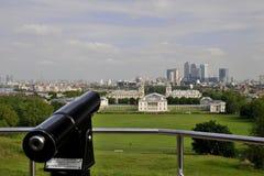 Greenwitch Panorama - Teleskop Lizenzfreie Stockbilder