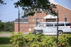 Greenwood AME kościół, Millington, TN zdjęcie royalty free