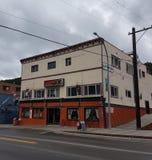Greenwood BC Hotel. Motel, street, grandforks royalty free stock photo