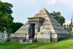 Greenwood Cemetery. Majestic tomb in the historic Greenwood Cemetery in Brooklyn, New York Royalty Free Stock Images