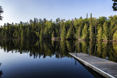 Greenwood Lake. A calm morning on a lake in northern Minnesota Royalty Free Stock Image