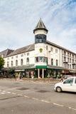 Greenwoods Menswear store North Wales. Mostyn St, Llandudno, North Wales, United Kingdom.-May 18 2014 : Greenwoods famous menswear  store built in 1860. 49 Royalty Free Stock Photo