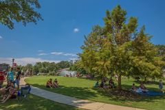 Greer City Park parti för den stora amerikanska förmörkelsen Arkivbild