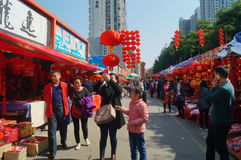 Greet the Spring Festival market Royalty Free Stock Photos