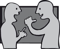 Greet. Two people happily meeting up Stock Image