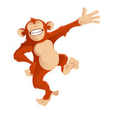 Greetig monkey Stock Photo