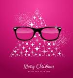 Greetin för glad jul för Hipster och för lyckligt nytt år Royaltyfri Fotografi