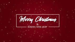 A greeting animation Merry Christmas and happy new year. Collection stock video footage