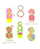 Greeting applique for 8 March Royalty Free Stock Photo