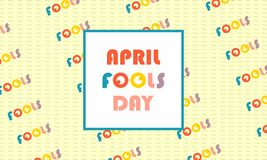 Greeting april fools day  vector illustration