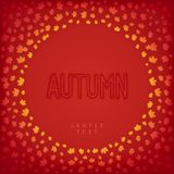 Greeting autumn card Royalty Free Stock Image