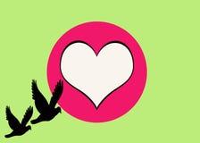 greeting av förälskelse Stock Illustrationer