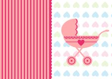 Greeting for baby born Stock Photo