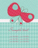 Greeting baby card Royalty Free Stock Photos