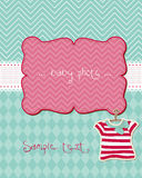 Greeting baby card Royalty Free Stock Photo