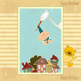 Greeting baby card Royalty Free Stock Photos