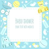 Greeting Baby Shower Card Royalty Free Stock Photo