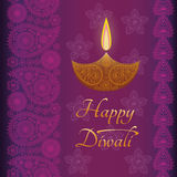 Greeting background (card) for Diwali festival celebration in India Stock Photo