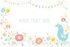 Greeting background with flowers for invitation Stock Photo