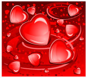 Greeting background with hearts Stock Image