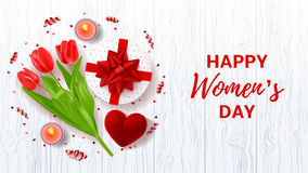 Greeting banner for Women`s Day Royalty Free Stock Photography
