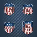 Greeting Banners Set for 4th of July Holiday. Greeting Banners Set for 4th of July american Holiday. Vector Illustration Royalty Free Stock Photos