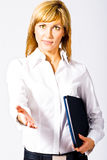 Greeting Beautiful Business Lady Stock Photos