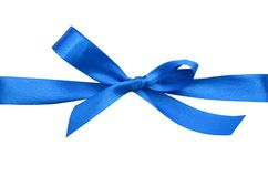 Greeting blue bow Stock Photo