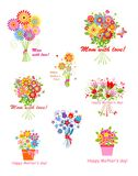 Greeting bouquets for Mothers day Royalty Free Stock Photo