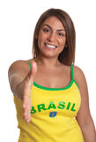 Greeting brazilian girl Royalty Free Stock Photos
