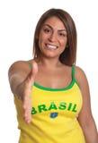 Greeting brazilian girl Royalty Free Stock Photos