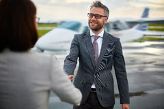 Greeting business partner Royalty Free Stock Photography