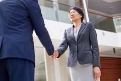 Greeting Business Partner Royalty Free Stock Image