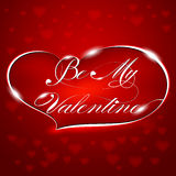 "Greeting Card ""Be My Valentine"" Royalty Free Stock Image"