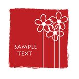 Greeting card. Bright red card with space for sample text Stock Photos
