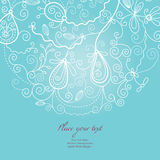Greeting card. Greeting  card ideas - wintry ornament Stock Photos