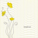 Greeting card. Or wedding card with flowers vector illustration