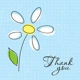 Greeting card. Vector illustration of greeting card with flower Stock Images