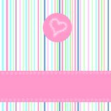 Greeting card. Babygreeting card with hearts motive Royalty Free Stock Photos