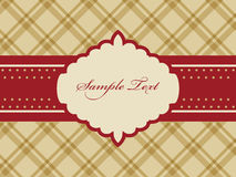 Greeting card. Vector vintage red and brown greeting card Stock Images