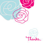 Greeting card. Stylized vector 'Thanks' greeting card Stock Image