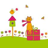 Greeting card. Colorful graphic illustration for children Royalty Free Stock Photography