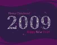 Greeting card 2009. stars. Greeting card 2009 wiyh stars Royalty Free Illustration