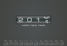 Greeting card for 2011 with bonus calendar. Happy new 2011 year card with bonus calendar for 2011 (monday-sunday vector illustration