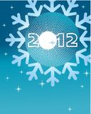Greeting card for 2012. Vector illustration Stock Photography