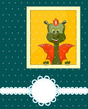 Greeting Card 2012 with dragon. And place for text stock illustration